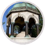 The German Fountain In Istanbul Round Beach Towel