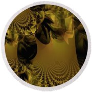 The Golden Mascarade Round Beach Towel