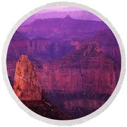 The Grand Canyon North Rim Round Beach Towel