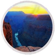 The Grand Canyon Solitude At Toroweap Round Beach Towel