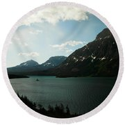 The Grand Tetons Round Beach Towel