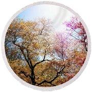 The Grandest Of Dreams - Cherry Blossoms - Brooklyn Botanic Garden Round Beach Towel
