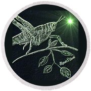The Grasshopper Round Beach Towel