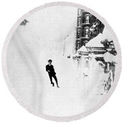 The Great Blizzard, Nyc, 1888 Round Beach Towel by Science Source