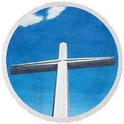 The Great Cross - Risen Round Beach Towel