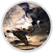 The Great Migration . Full Color Round Beach Towel