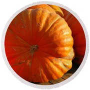 The Great Pumpkin  Round Beach Towel