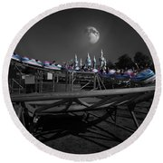 The Great Space Coaster Round Beach Towel