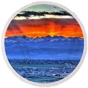 The Great Sunset Round Beach Towel