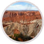 The Great Upheaval Dome Round Beach Towel