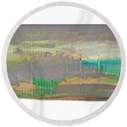 The Great Wave Round Beach Towel