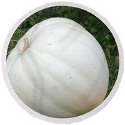 The Great White Pumpkin Round Beach Towel