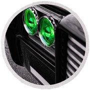 The Green Hornet - Black Beauty Close Up Round Beach Towel