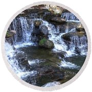 The Grotto Photograph Round Beach Towel