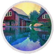 The Guest Cottage Round Beach Towel