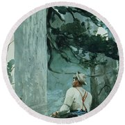 The Guide Round Beach Towel by Winslow Homer
