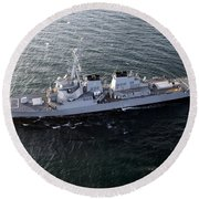 The Guided-missile Destroyer Uss Laboon Round Beach Towel