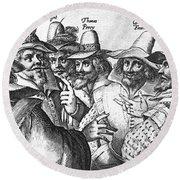 The Gunpowder Rebellion, 1605 Round Beach Towel