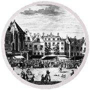 The Hague: Market, 1727 Round Beach Towel