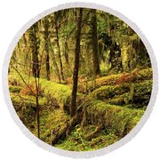 The Hall Of Mosses Round Beach Towel