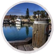 The Harbour At Mindarie Round Beach Towel