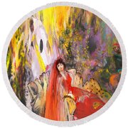 The Harem Round Beach Towel