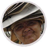 The Hat Lady Costa Rica Round Beach Towel