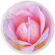 The Heart Of A Rose Round Beach Towel