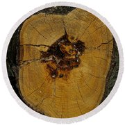 The Heart Of A Tree Round Beach Towel