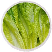 The Heart Of Romaine Round Beach Towel
