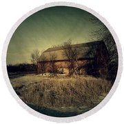 The Hiding Barn Round Beach Towel by Joel Witmeyer