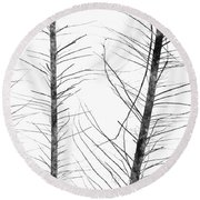 The Hirsute Trees Round Beach Towel