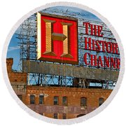 The History Channel Round Beach Towel
