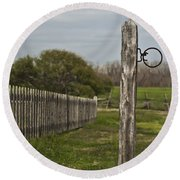 The Hitching Post Round Beach Towel