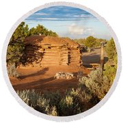 The Hogan Where  We Stayed Canyon Dechelly Nps Round Beach Towel