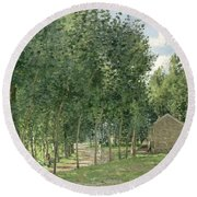 The House In The Forest Round Beach Towel