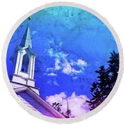 The House Of Men Under The House Of God Round Beach Towel