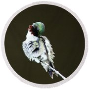 The Hummer Image Round Beach Towel
