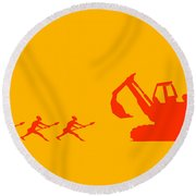 The Hunters Round Beach Towel by Pixel Chimp