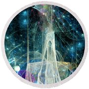 The Ice Castle 1 Round Beach Towel