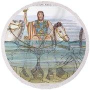 The Iliad: Neptune, 1805 Round Beach Towel