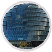 The Imposing Glass Greater London Mayoral Building On The Banks Of The Thames Round Beach Towel