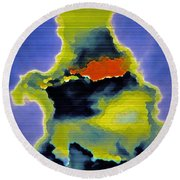 The Ink Blot Round Beach Towel