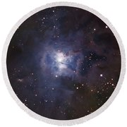 The Iris Nebula Round Beach Towel