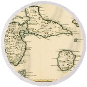 The Islands Of Guadeloupe Round Beach Towel