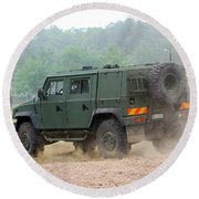 The Iveco Light Multirole Vehicle Round Beach Towel