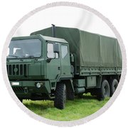 The Iveco M250 Used By The Belgian Army Round Beach Towel