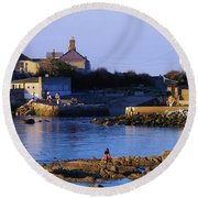 The James Joyce Tower, Sandycove, Co Round Beach Towel