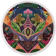 The Joy Of Design Series Arrangement Cornucopia Round Beach Towel
