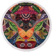 The Joy Of Design Series Arrangement Embracing Complexity Round Beach Towel